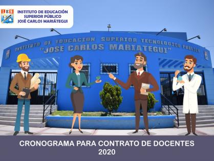 CRONOGRAMA PARA CONTRATO DE DOCENTES 2020