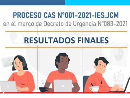 RESULTADOS FINALES– PROCESO CAS N°001-2021-IES.JCM